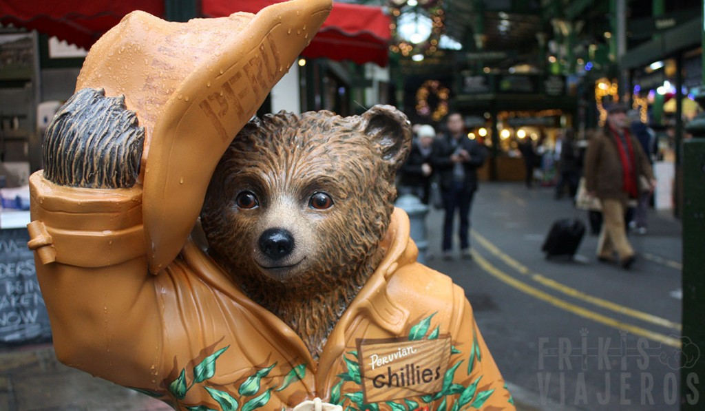 Oso Paddington en el Borough Market, Londres