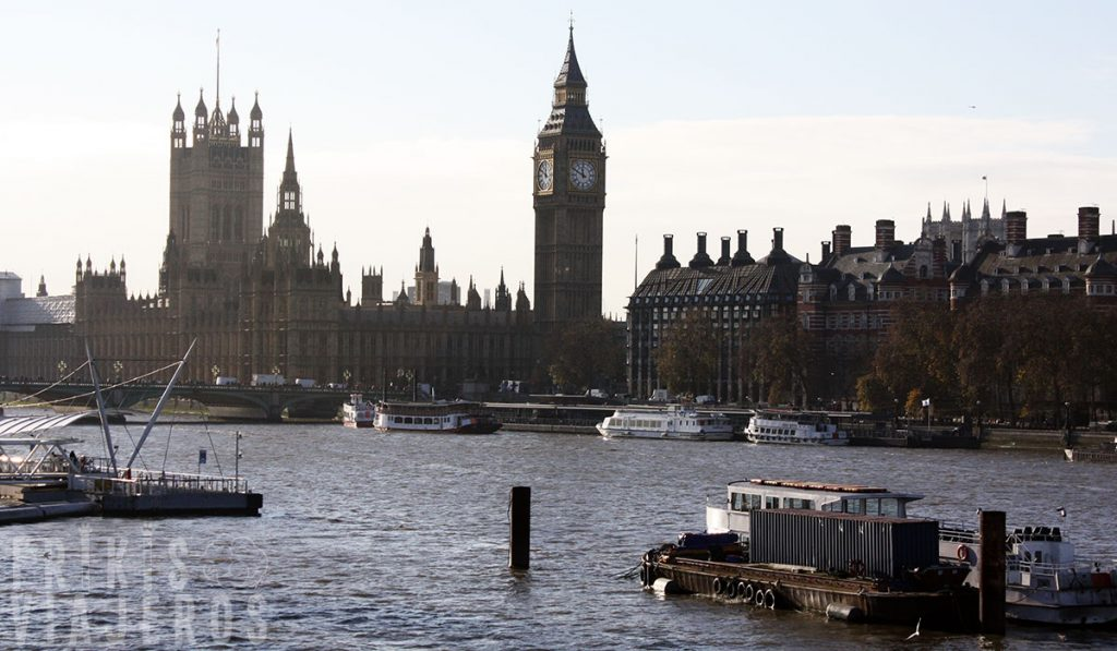 Londres por libre, vistas del Big Ben desde el Golden Jubilee Bridges