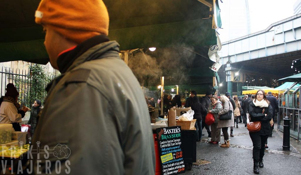 Londres por libre, puestos en Borough Market